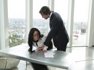 Megan looks extremely hot and the office outfit she's wearing, really suits...