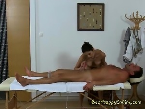 Massage Therapist Miyuki Son Massages Big Cock Of Patient