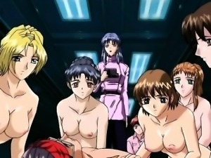 Naked anime girls face sitting cunt starved guy in group sex