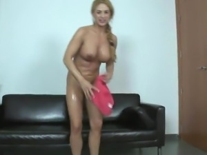 Giant hooter Blonde honey has arse till Being Accepted