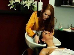 Brunette Bride Gets Lesbians Attention