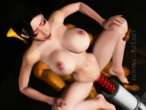 Naughty 3D anime hoe gets fucked