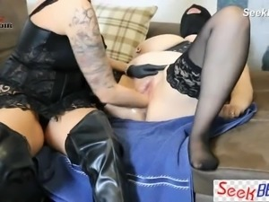 His Wife Hard Fisted Femdom to Female Slave