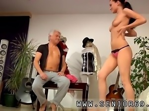 Old mom seduce girl first time Clair is