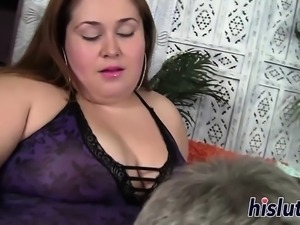 Naughty BBW has her wet pussy rammed