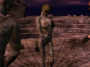 3D Zombie Babe Double Teamed