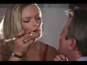 Lipstick smoking mistress