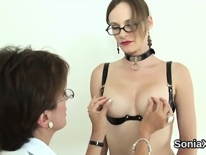 Cheating english mature lady sonia shows off her large tits