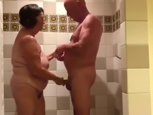 not Mom and dad in the shower