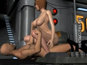 Hot chesty 3D anime slut fuck dick