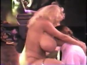 Huge Boob Blonde strips