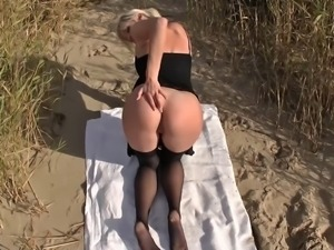 cute blonde beach sex