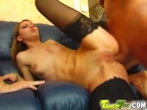 Tamed Teens Teen lovelies' first anal fuck and cum swap