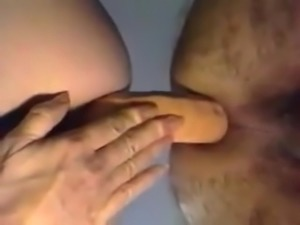 Amatuer couple fucking with double ended dong