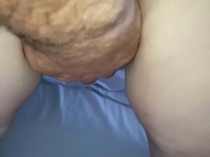 wifes big hairy ass & hairy pussy lips