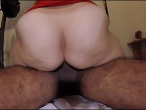Amateur wife rides big ass cums interracial peluda