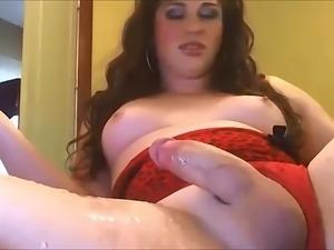 Most Hot Tranny Masturbating & cumshot scene