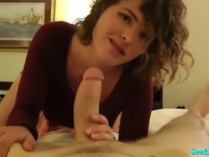 Whore Step Mom Catches You Jerking off and Fu