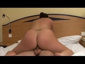 Hot Horny Chubby Teen GF with nice ass riding cock-1