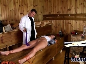 Gorgeous brunette gets nailed by her doctor