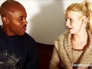 Doing the blonde stranger
