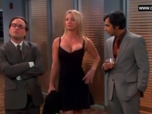 Kaley Cuoco - Hottest Dress ever, Cleavage + Big Boobs - The Big Bang Theor