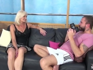 MILF Clarisa Strips And Fucks For An Audition