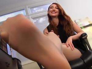Kendra James nylon feet fantasy