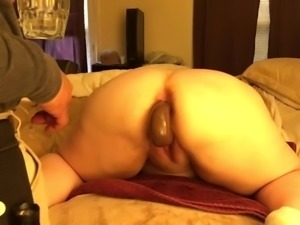 BBW on training for anal !
