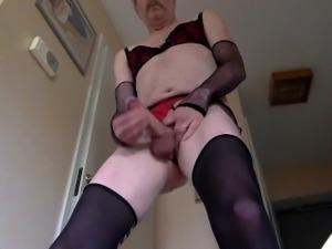 Jerking my sissy dick