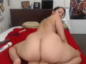 Big ass riding dildo
