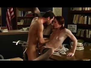 Stoya in the library HD