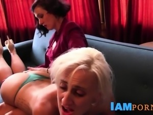 Blonde Spanked By Lesbian Mistress