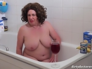 Auntie Trisha Sploshing in The Bath