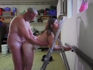 Amateur French old man fuck casting hot secretary wet pussy