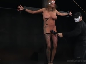 suspended slave tits tortured and punished