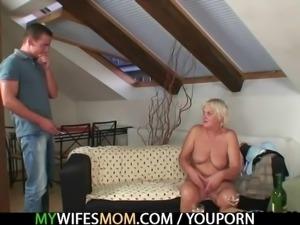Boozed motherinlaw seduces me into sex