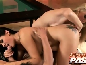 Julia Ann and Raylene are stocking clad hotties with huge