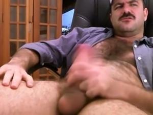 Gay bear solo masturbartion