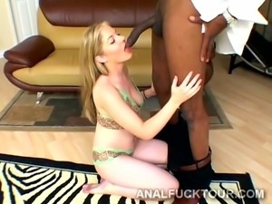 Black and white team up to break in two a young blonde