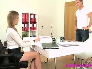FemaleAgent Amazing casting ends cum on tits