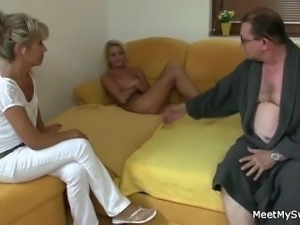 Parents seduce and fuck son's girlfriend