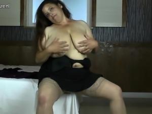 Latin mom with huge rack enjoys a  Mathilde from onmilfcom
