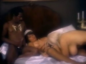 Sexy ladies play around and get fucked in wild vintage threesome