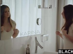 BLACKED Girlfriend Karina White Cheats with BBC on Vacation
