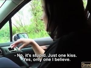 Stranded teen Nikki Sweet fucked by pervert stranger dude