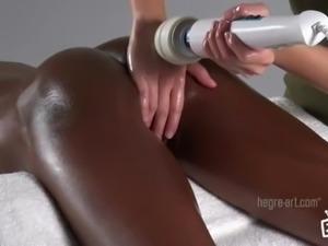 POV Black Woman Pussy Massage