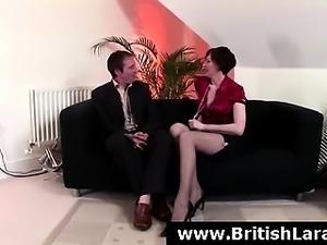 Bisexual British milf in stockings has sexy fun
