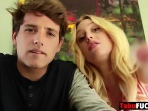 Gorgeous Blonde Babe Fucks Her Stepbro