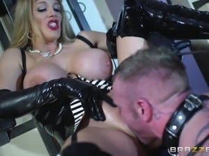 Leather-Clad Dominatrix With A Hot Body Enjoying A Hardcore Anal Fuck